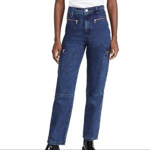 NWT WeWoreWhat Utility Stiff Denim Bromme Jeans